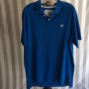 American Eagle blue vintage polo shirt